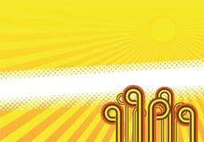 Diseño retro del fondo Imagenes de archivo