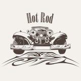 Diseño retro del logotipo del coche Fotografía de archivo libre de regalías