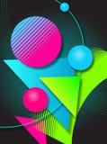 Diseño retro del vector Fotografía de archivo