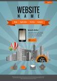 Diseño retro del Web site stock de ilustración