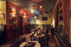Diseño retro interior del café Imagen de archivo