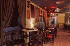 Diseño retro interior del café Fotografía de archivo libre de regalías