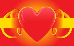 Diseño rojo colorido del corazón del amor Foto de archivo