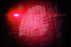 Diseño rojo de la impresión de la mano de la tecnología Fotos de archivo libres de regalías