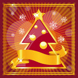 Diseño rojo de la Navidad Imagen de archivo