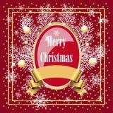 Diseño rojo de la Navidad Foto de archivo
