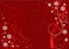 Diseño rojo de la Navidad del vector Fotografía de archivo