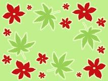 Diseño rojo de las flores Imagen de archivo