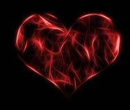Diseño rojo del corazón Fotos de archivo libres de regalías