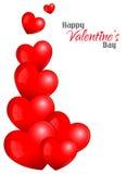 Diseño rojo hermoso del fondo de los corazones libre illustration