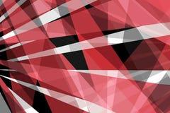 Diseño rojo y blanco negro moderno abstracto del fondo con las líneas o las rayas de intersección intrépidas en modelo dramático, stock de ilustración
