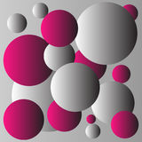 Diseño rojo y gris del fondo de las bolas Foto de archivo libre de regalías