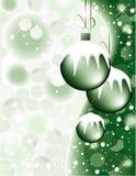 Diseño romántico de la Navidad verde Foto de archivo