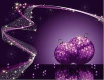 Diseño romántico de la Navidad violeta del vector Fotos de archivo libres de regalías