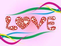 Diseño romántico del amor Foto de archivo