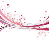 Diseño romántico del día de St.Valentine Imagen de archivo