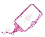 Diseño rosado de la frontera Foto de archivo libre de regalías