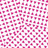 Diseño rosado de los triángulos Fotografía de archivo