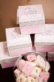 Diseño rosado para el cumpleaños de los niños Fotos de archivo libres de regalías