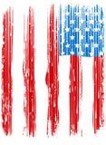 Diseño roto americano de la bandera/de la bandera del vintage/impresión original de la camiseta stock de ilustración