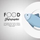 Diseño sano de la comida Icono de Infographic Concepto del menú Fotografía de archivo