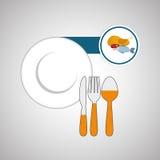 Diseño sano de la comida Icono de Infographic Concepto del menú Imagen de archivo libre de regalías