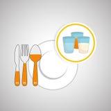 Diseño sano de la comida Icono de Infographic Concepto del menú Fotos de archivo