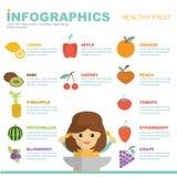 Diseño sano del vector de la fruta de Infographic Fotos de archivo