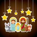 Diseño santo de la familia stock de ilustración