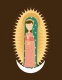 Diseño santo de Maria ilustración del vector