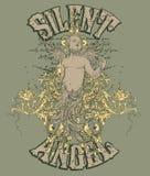 Diseño silencioso del ángel   Foto de archivo