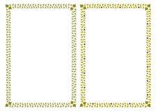 Diseño simple de los marcos Fotografía de archivo libre de regalías