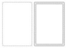 Diseño simple de los marcos Imagen de archivo