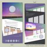 Diseño simple del sitio web de la página del estilo uno Fotografía de archivo libre de regalías