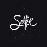Diseño simple del texto para el concepto de Selfie ilustración del vector