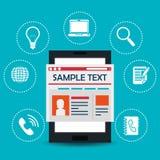 Diseño social de los medios del blog y del blogger Fotografía de archivo libre de regalías