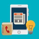 Diseño social de los medios del blog y del blogger Imágenes de archivo libres de regalías