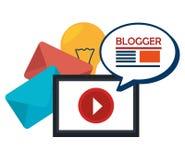 Diseño social de los medios del blog y del blogger Fotos de archivo