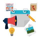 Diseño social de los medios del blog y del blogger Imagen de archivo