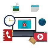 Diseño social de los medios del blog y del blogger Foto de archivo
