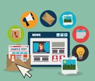 Diseño social de los medios del blog y del blogger Imagenes de archivo