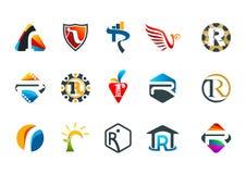 Diseño sofisticado del símbolo del concepto de la letra r Imagen de archivo