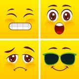 Diseño sonriente de las caras Foto de archivo