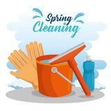 Diseño Spring cleaning ilustración del vector