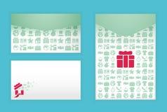 Diseño suave moderno del sobre del color con compras del icono Fotografía de archivo libre de regalías