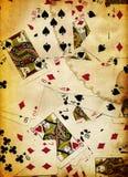 Diseño sucio de la textura del fondo de las tarjetas que juegan Foto de archivo libre de regalías