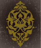Diseño sucio de la trama del papel pintado del otomano antiguo stock de ilustración
