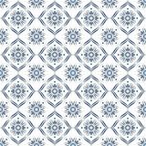 Diseño superficial del modelo en azul y blanco con el ornamento decorativo Vector Imagenes de archivo