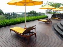 Diseño superior del patio del jardín de la azotea Imagen de archivo