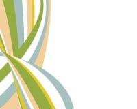 Diseño swoopy retro de las rayas Imagen de archivo